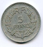 RARE MONNAIE 5 FRANCS LAVRILLIER ALUMINIUM 1948 B ! TOP