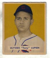 "1949 Bowman Baseball Card #141 Ulysses ""Tony"" Lupien Detroit Tigers EX"