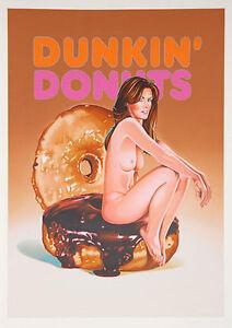 Mel Ramos - Dunkin' Donuts - 2006, Pop Art Grafik Serigrafie, Luxus
