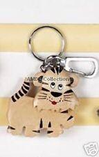 """Wildlife Animals: White Tiger 2.5"""" Wooden Keychain"""
