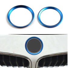 Front & Rear Logo Sticker Circle Decorationg Ring Aluminum For BMW 3/4 M3 M4
