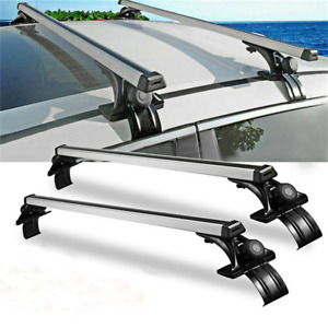 """2x 48""""Inch Car Roof Rack Cross Rail Bar Luggage Bicycle Boat Carrier Adjustable"""