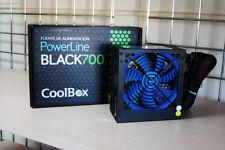 Fuente de alimentación CoolBox - Powerline Black 700W ATX Ventilador 12cm azul