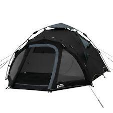 Campingzelt QEEDO Quick Oak 3 schwarz Sekundenzelt 3 Personen Zelt Wurfzelt Pop