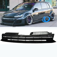 NEW BADGELESS SPORT GRILLE - BLACK FOR 10-14 VW MK6 GOLF/GTI/JETTA SPORTWAGEN