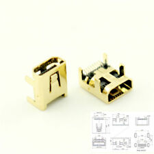 10Pcs Gold Plated Mini USB 8 Pin Female Jack PCB SMT Socket Connector For DIY