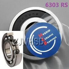 6303 2RS Si3N4 Hybrid Ceramic Ball Bearing Rubber Sealed 17 x 47 x 14 mm Hub