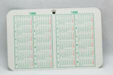 Genuine Rolex Calendar Card 1995 - 1996