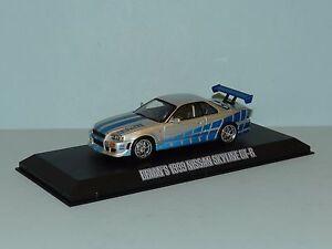 Greenlight 1/43 Fast & Furious Brian's 1999 Nissan Skyline GT-R MiB