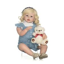 "28"" Reborn Toddler Silicone Girl Blonde Hair Children Wear Model Doll Xmas gifts"
