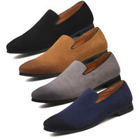 Mens Suede Casual Loafers Moccasins Slip on Leahter Shoes UK Sizes 5-11
