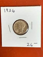 1936-P  90% Silver Mercury Dime