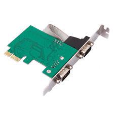 Top 1Pc 2 Port RS-232 Serial Port COM para PCI-E PCI Card Adapter Converter