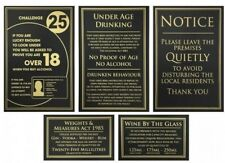 More details for bar licensing sign pack alcohol law notices 25ml spirits wine pack of 5