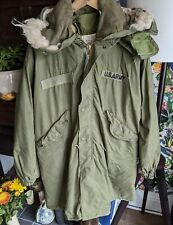 Vtg '77 US Army M65 Cold Weather Fishtail Parka W/ Hood & Liner MOD Scooter