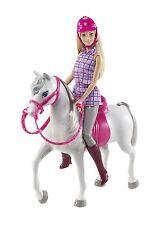 Mattel Barbie Pferd Schimmel & Barbie Reiterdress DHB68 NEU OVP