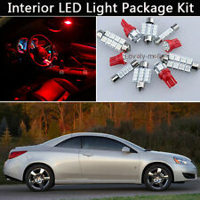 5PCS Bulbs Red LED Interior Car Lights Package kit Fit 2005-2010 Pontiac G6 J1