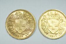 4 Goldmünzen Vreneli 1902B/1907B, 20 Mark BADEN 1873, 1 DUKAT Niederlande 1928
