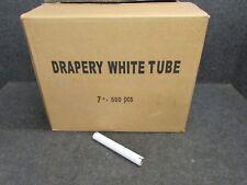 """New! 500-Count Case 7"""" Drapery Hanger Strut Tubes, White Cardboard"""