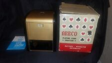 Vintage Arrco Playing Card Shuffler No.750  Battery Operated in box with instruc