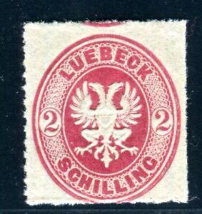 LÜBECK 1863 11A ** POSTFRISCH TADELLOS unsigniert (Z3737
