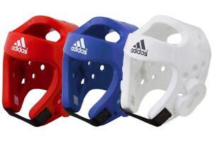 Adidas WT Dipped Foam Head Guard Taekwondo Head Protection Red Blue White Men