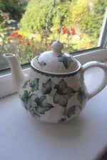 BHS Country Vine Teapot for One Green & Cream Vine Leaves British