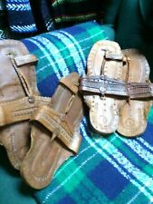 BUFFALO SANDALS Jesus CREEPERS 60S RETRO SANDAL SLIPPER TOE RING SHOES DARK SZ 6