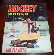 Hockey World Magazine April 1972 Gerry Cheevers Boston Bruins