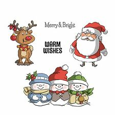 Christmas Wishes, Unmounted Stamp Set on Cushion ART IMPRESSIONS - NEW, 4667