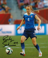 Becky Sauerbrunn 2015 World Cup Usa Soccer Olympic Signed 8x10 Photo Autographed