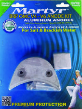 JOHNSON EVINRUDE BRP OMC V4 V6 ALUMINUM ANODE KIT SALT WATER BRACKISH W/HARDWARE