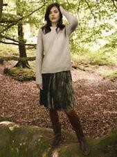 £55 white stuff Anastasia Velvet Crush Skirt CITRON GREEN sz UK 14