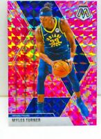 Myles Turner 2019-20 Panini CAMO PINK MOSAIC PRIZM Card #195 Indiana Pacers SP??
