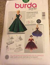 """Burda Pattern 7336 Barbie / Fashion Doll Clothes 11 1/2- 12 1/4"""""""