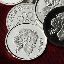 Queen Skull Design. Lot of 10, 1 gram .999 Fine silver bullion round. (Coin) NEW