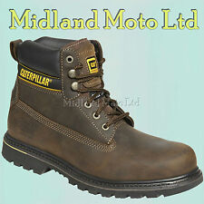 Caterpillar Holten Brown Leather GOODYEAR Welted Safety Boot UK 9 Euro 43 Cathol