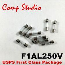 Comp Studio LOT OF 10 1A 250V FUSES F1AL250V 1 Amp Fast-Blow FUSE 5mm x 20mm C