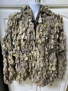 MENS CABELLAS MOSSY OAK HUNTING GHILLY COAT SZ LARGE PERFECT CONDITION