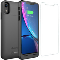 iPhone XR Battery Case Slim Charger Cover Rechargeable Backup with Qi Charging