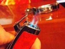 Colibri  burlwood  Enterprise Triple Jet Flame Cigarette Lighter w/punch  NOS
