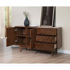 Mid Century Modern Credenza Buffet TV Stand Sideboard Storage Cabinet Furniture Accent Your Dining Room