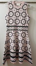 NEW Kate Spade Floral Mosaic Jacquard Scallop Sweater Dress Sleeveless Sz Small