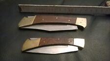 Set schöne alte Taschemesser/Jagdmesser mit Holzgriff
