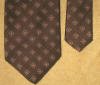 Brooks Brothers Makers Tie Brown w/ Blue and Gold Diamonds  4.0W 57L