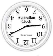Australia Australian SILENT Wall Clock - Upside Down Under - Funny Novelty GIFT