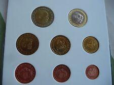 SERIE COMPLETE PIECES 1 CENT A 2 EUROS MONACO ANNEE 2001