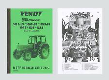 FENDT Farmer 106 S 106 LS  Turbomatik Betriebsanleitung Schlepper