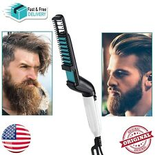 Tame Finish Beard Straightener Quick Hair Styler for Men Electric Hair Comb Stra