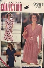Vtg Butterick Collection Pattern 3361 Misses'/Petite Dress size 6, 8, 10 uncut